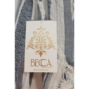 BECCA Pants - NWT BECCA Crochet Lace Knit Romper Cover Up